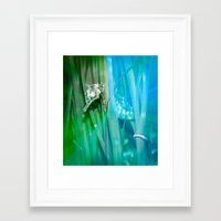 psychadelic Framed Art Prints featuring Psychadelic Seahorse by Heidi Fairwood