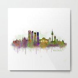Madrid City Skyline HQ v5 Metal Print