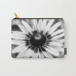 Flower - Black & White Carry-All Pouch
