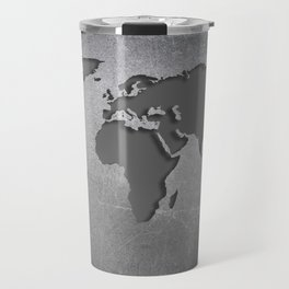 World Map Metal engraved Travel Mug