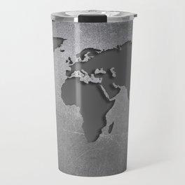 World Map Metal engraved Travel Mug