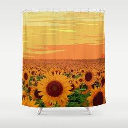 Maryland Sunflowers Shower Curtain