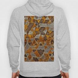 gold silver van gogh triangles Hoody