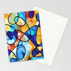 Colorful Art - Line Dance 1 - Sharon Cummings  Stationery Cards