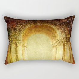 Vintage traditional old fort main gate design Rectangular Pillow