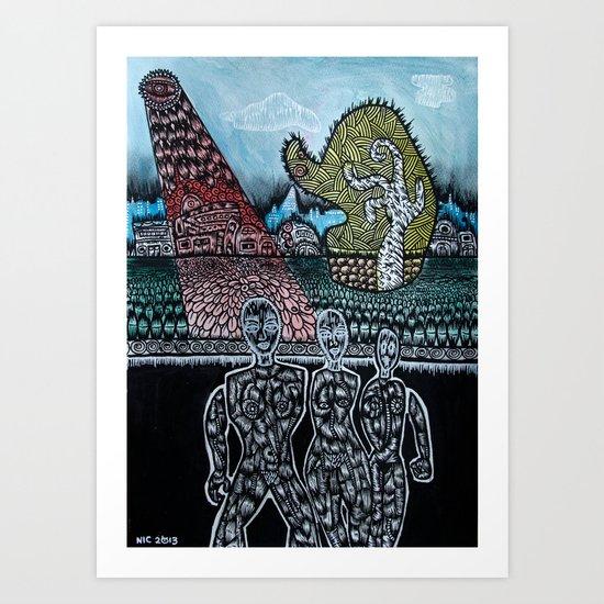 FEMALE ALIENS  Art Print