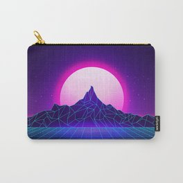 Retro Vaporwave Mountain Carry-All Pouch