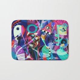 Night life, Wassily Kandinsky inspired geometric abstract art Badematte