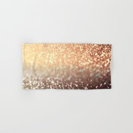 Cozy Copper Espresso Brown Ombre Autumnal Mermaid Glitter Hand & Bath Towel