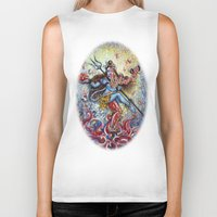 shiva Biker Tanks featuring Shiva Shakti by Harsh Malik