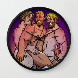 Chris, Chris, and Chris Wall Clock