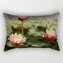 Waterlily Pond Rectangular Pillow
