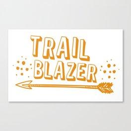 Trail blazer with arrow in orange Canvas Print