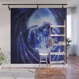 Angel in Blue Wall Mural