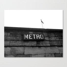 Paris Metro Canvas Print