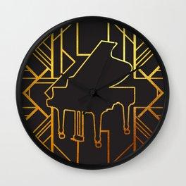 Art Deco Piano Wall Clock