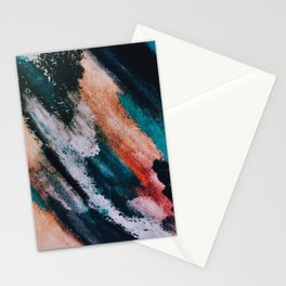 Chaos: a mixed media abstract in a variety of vibrant colors Stationery Cards