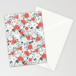 Fall loral Red Stationery Cards