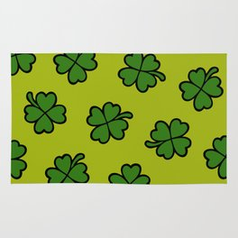 Lucky Four Leaf Clover Pattern Rug