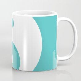 Yin & Yang (White & Teal) Coffee Mug