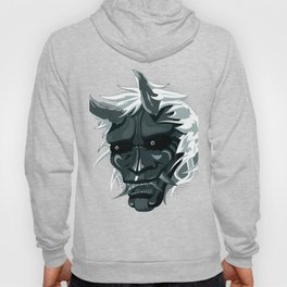 oni mask, japanese ogre color case Hoody