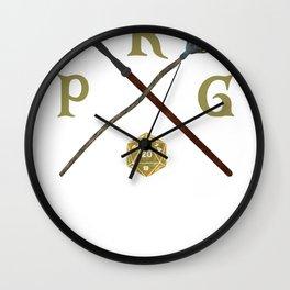 Role Playing Game rpg gamer Fantasy Dragons Shirts Wall Clock