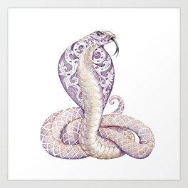 Cobra Snake Tattoo Art Print