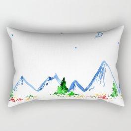 Mountains || watercolor Rectangular Pillow