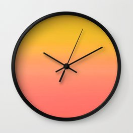 Coral to Gold Ombre Hombre Sunset Wall Clock