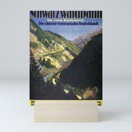 retro Plakat Badische Schwarzwaldbahn Mini Art Print