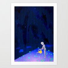 01101100011010010110011001100101 Art Print