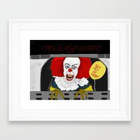 pennywise Framed Art Prints featuring Pennywise AKA The Clown by ItalianRicanArt