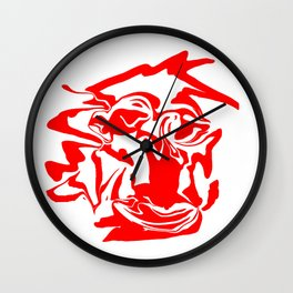 face7 red Wall Clock