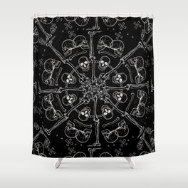 """""""Young Heart"""" - We are the ocean // black mandala Shower Curtain"""