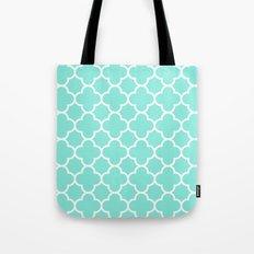 MOROCCAN {TEAL & WHITE} Tote Bag