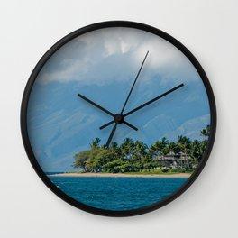 Paysage des îles Hawaiiennes Wall Clock