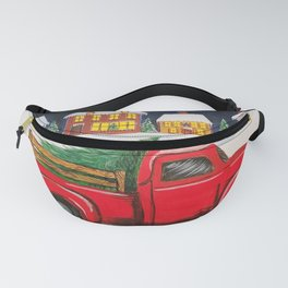 Bringing Home the Christmas Tree  Fanny Pack