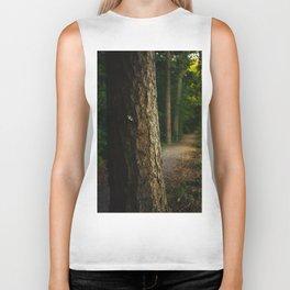 Tree in a forest Biker Tank