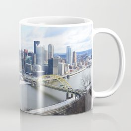 Pittsburgh point and incline in winter 22 Coffee Mug