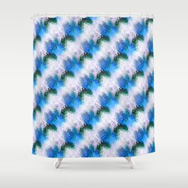 Foaming waves... Shower Curtain