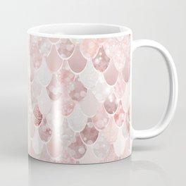 Mermaid Art, Blush Millennial Pink and Rose Gold Coffee Mug