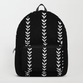 Linocut arrow stripes minimal black and white arrows chevrons Backpack