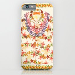 Plumeria Lei Shirt iPhone Case
