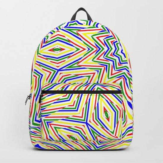 Kaleidoscope Colourful Stripes Backpack