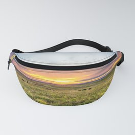 Tallgrass Prairie - Sunset and Bison on the Plains Fanny Pack
