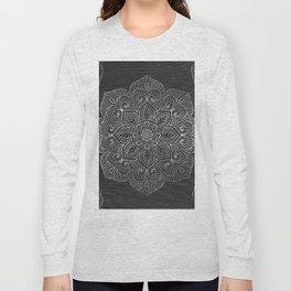 Wood Mandala - Silver Long Sleeve T-shirt