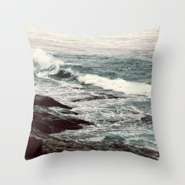 Cyan Sea #2 Throw Pillow