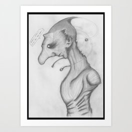 Funny creature wip Art Print