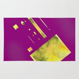 purple yellow Rug