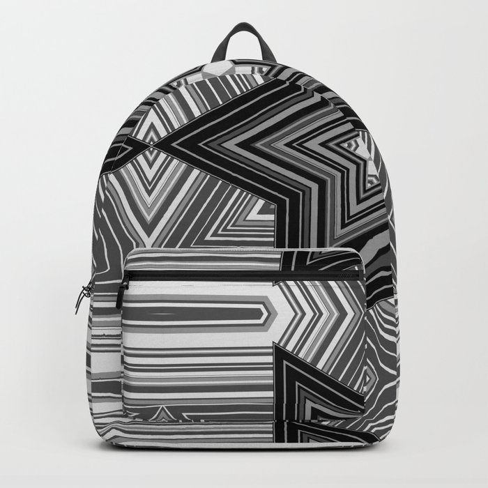 Black and white abstract pattern. Graphics. Backpack